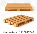 wooden pallet front and angle...   Shutterstock .eps vector #1910017363