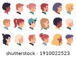 people portraits. men  women...   Shutterstock . vector #1910022523