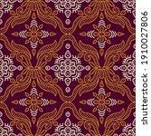 seamless vector vintage damask... | Shutterstock .eps vector #1910027806