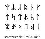 slavonic runes of venethi. pre... | Shutterstock . vector #191004044