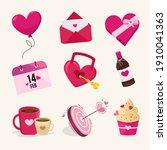 valentines day illustration... | Shutterstock .eps vector #1910041363