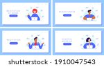 set of landing pages with...   Shutterstock .eps vector #1910047543