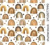 scandinavian boho nursery...   Shutterstock . vector #1910077990