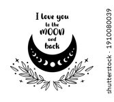i love you to the moon and back....   Shutterstock . vector #1910080039