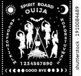 ouija boards with witches...   Shutterstock .eps vector #1910084689
