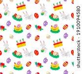 seamless easter pattern vector... | Shutterstock .eps vector #1910094580