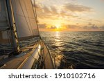 Sailboat Sailing In The...