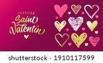 joyeuse saint valentin french... | Shutterstock .eps vector #1910117599