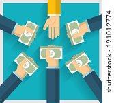 Hand Vector Exchange Money Ide...