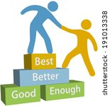 mentor helping person achieve... | Shutterstock .eps vector #191013338