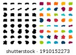 blob shapes vector set. organic ...   Shutterstock .eps vector #1910152273