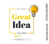 great idea badge with light... | Shutterstock .eps vector #1910196589