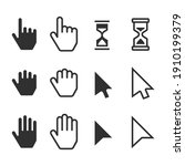 smooth cursors icons mouse hand ... | Shutterstock .eps vector #1910199379