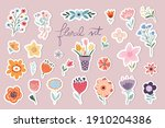 springtime stickers  magnets... | Shutterstock .eps vector #1910204386
