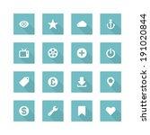 flat vector icons concept.... | Shutterstock .eps vector #191020844