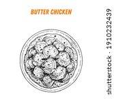 butter chicken sketch  indian... | Shutterstock .eps vector #1910232439