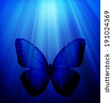 night light with butterfly as... | Shutterstock . vector #191024369