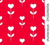 cute hearts flowers seamless...   Shutterstock .eps vector #1910246056