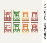 set of torii gate minimalist... | Shutterstock .eps vector #1910258179
