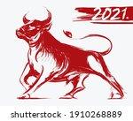 ox bull or cow paint brush... | Shutterstock .eps vector #1910268889