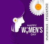 international women's day is... | Shutterstock .eps vector #1910269243