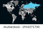world map color vector modern.... | Shutterstock .eps vector #1910271730