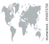 world map color vector modern.... | Shutterstock .eps vector #1910271733