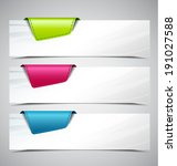 banner on the product... | Shutterstock .eps vector #191027588