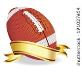 football with banner vector | Shutterstock .eps vector #191027654