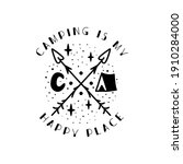 camping badge design. camping...   Shutterstock .eps vector #1910284000