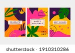 collection of 3 colorful...   Shutterstock .eps vector #1910310286