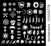 heraldic design vector elements, heraldry