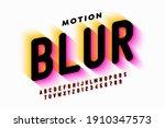motion blur style font design ... | Shutterstock .eps vector #1910347573