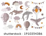 hand drawn collection with... | Shutterstock .eps vector #1910354386