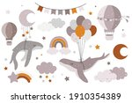 hand drawn collection with...   Shutterstock .eps vector #1910354389