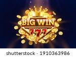 big win 777 label frame  golden ... | Shutterstock .eps vector #1910363986