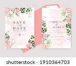 beautiful floral hand drawn... | Shutterstock .eps vector #1910364703