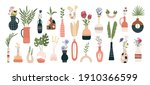 floral vases. blooming spring...   Shutterstock . vector #1910366599