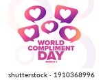 world compliment day. march 1.... | Shutterstock .eps vector #1910368996