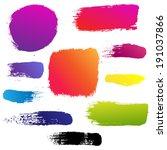 color blots set  vector... | Shutterstock .eps vector #191037866