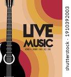 live music festival lettering... | Shutterstock .eps vector #1910392003