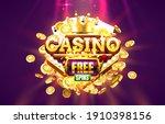 casino free spin 777 label... | Shutterstock .eps vector #1910398156