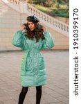 Stylish Woman Posing In Winter...