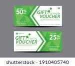 st. patrick's day gift voucher...   Shutterstock .eps vector #1910405740