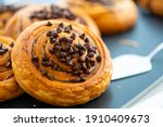 Danish bread with chocolate...