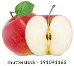 Full Apple And  Cut Slice...