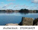 Scenic Leach Pond In Borderland ...