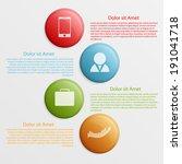 circle infographic design...