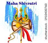 vector design of maha shivratri ...   Shutterstock .eps vector #1910430760