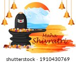 vector design of maha shivratri ...   Shutterstock .eps vector #1910430769